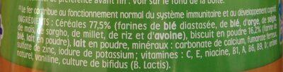 Nestlé p'tite céréale - Ingredienti - fr