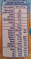 Nestlé p'tite céréale - Valori nutrizionali - fr