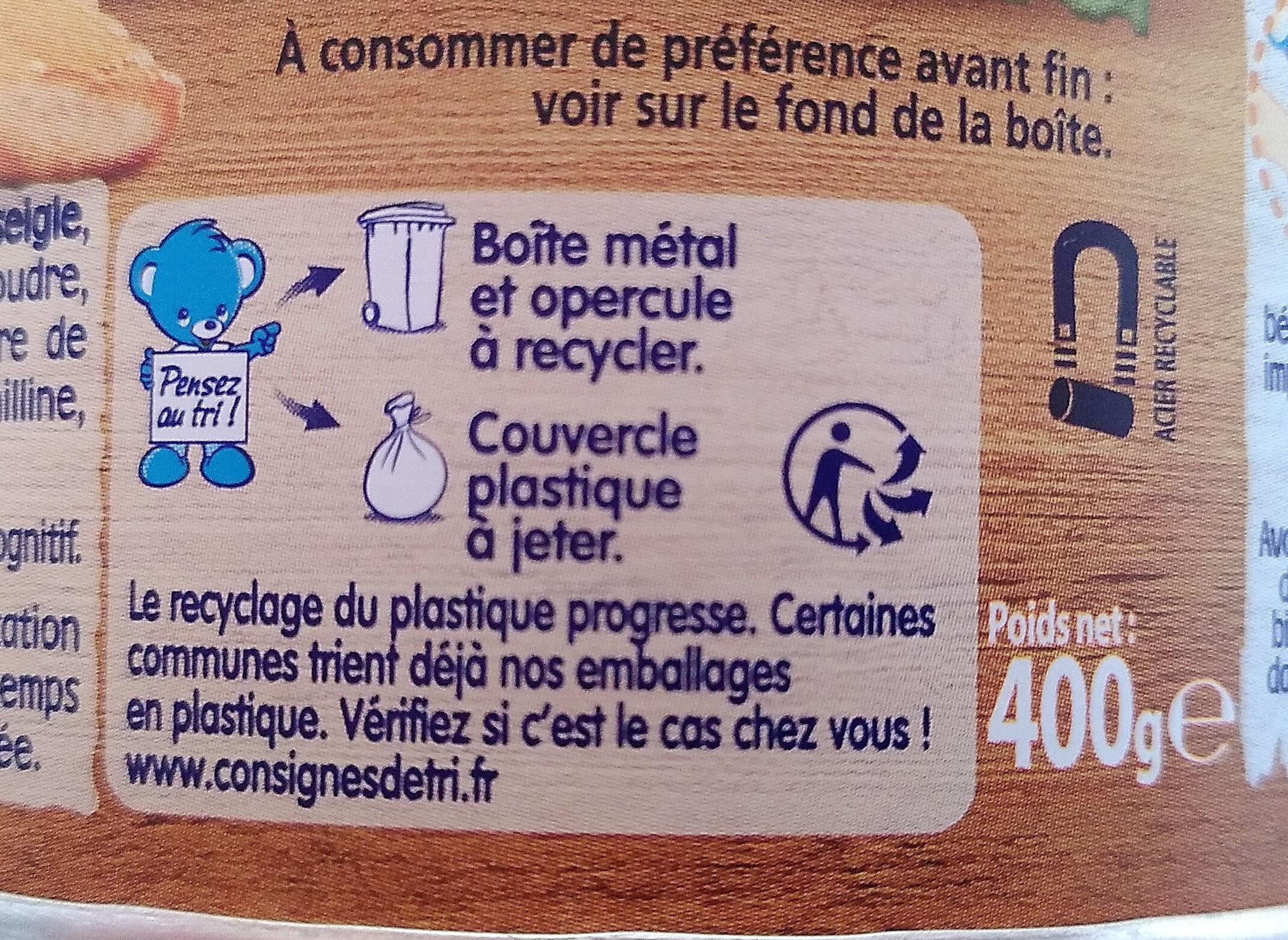 Nestlé p'tite céréale - Istruzioni per il riciclaggio e/o informazioni sull'imballaggio - fr