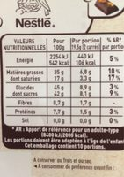 Orange confite & eclats de fèves de cacao - Valori nutrizionali - fr