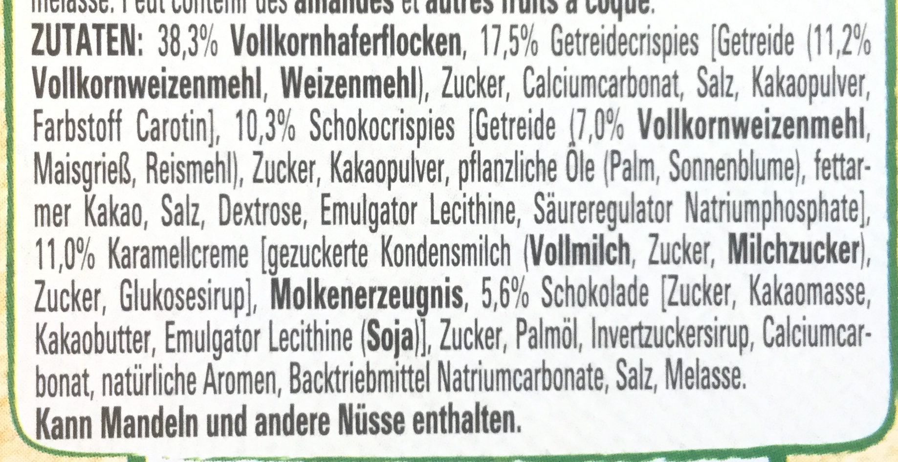 Crunchy muesli Lion - Zutaten - de