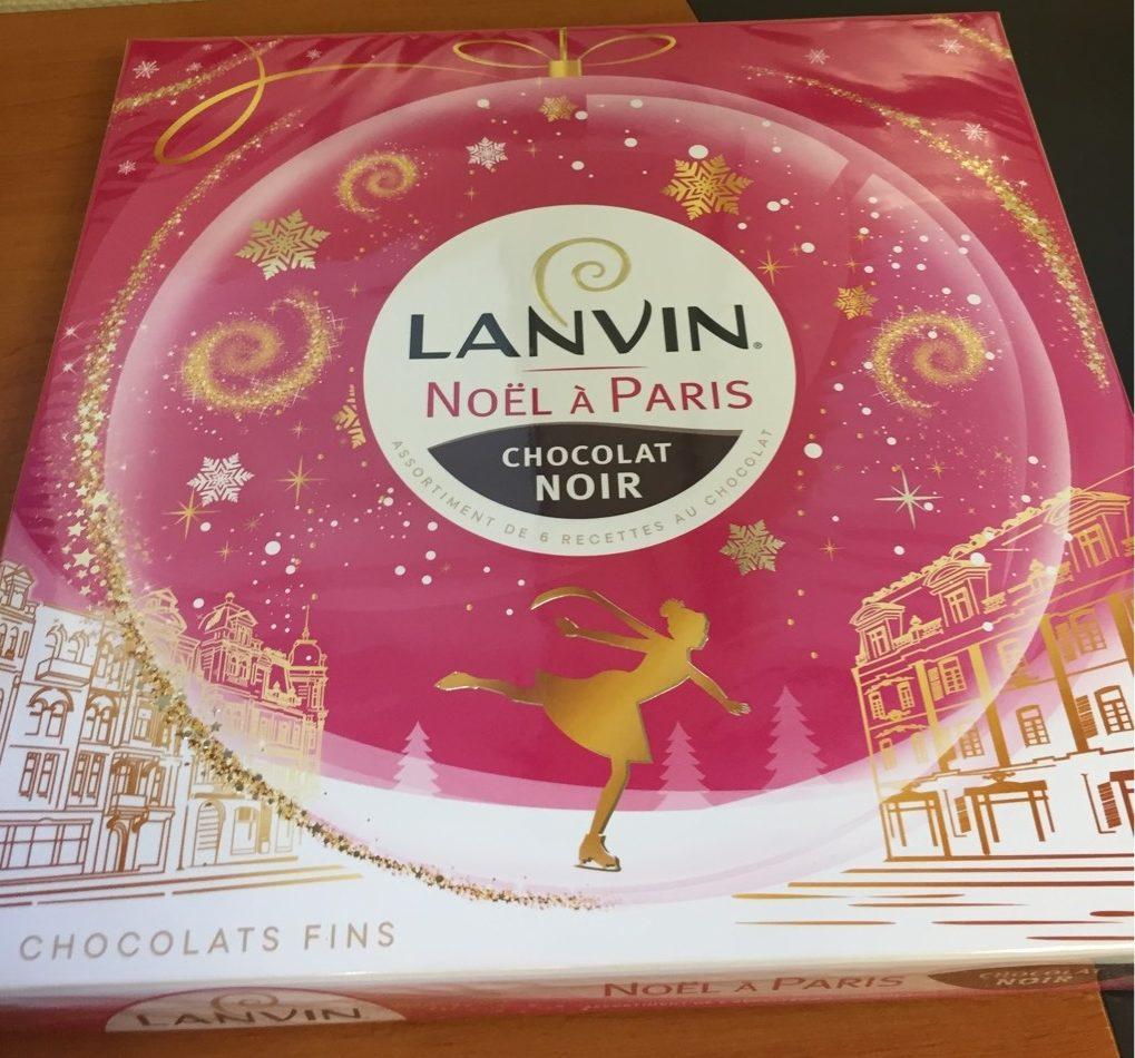 Assortiment chocolat noir Noël à Paris - Produit