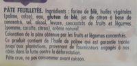 Tarte en or feuilletée - Ingredients - fr