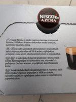 Nescafé espresso 1,8 g. 25 sticks - Ingrédients - fr