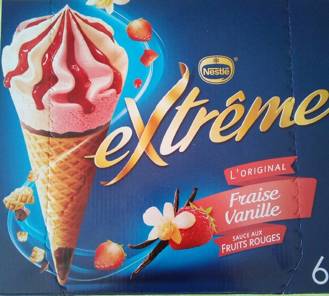 extrême Fraise-Vanille sauce aux fruits rouges x6 - Prodotto - fr