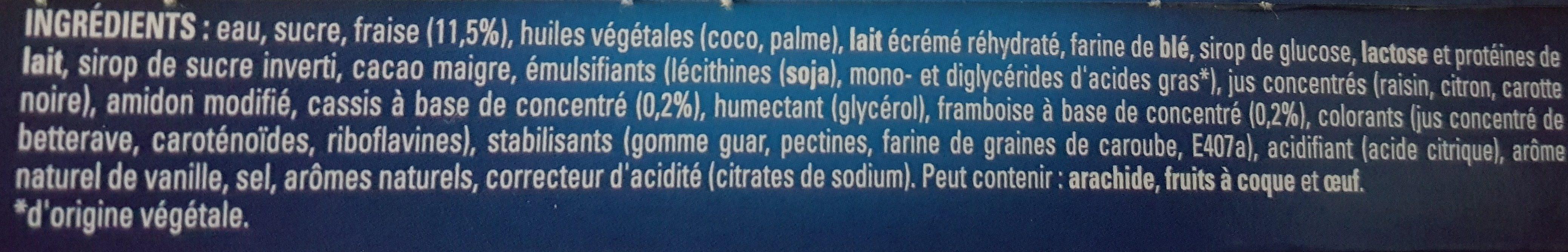 extrême Fraise-Vanille sauce aux fruits rouges x6 - Ingredienti - fr