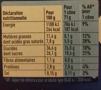 extrême Fraise-Vanille sauce aux fruits rouges x6 - Valori nutrizionali - fr