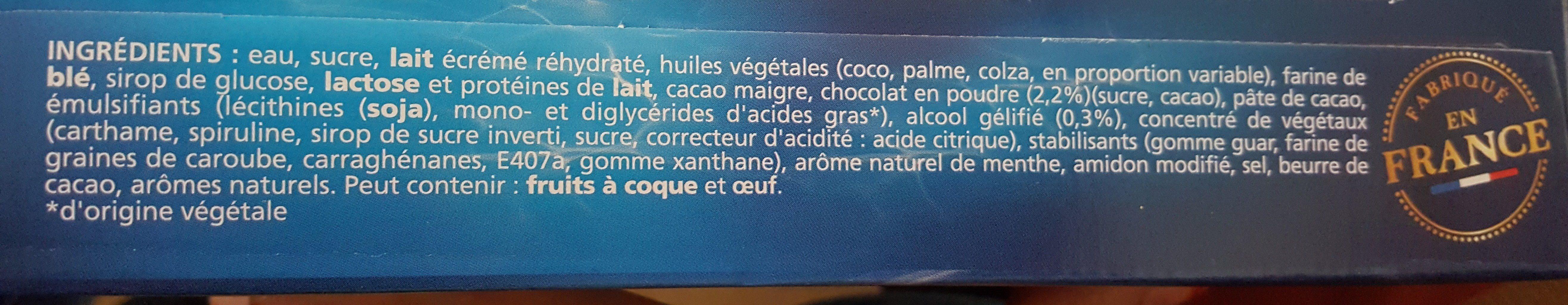 extrême Menthe Chocolat Pépites de chocolat - Ingredients - fr