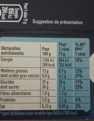 extrême Menthe Chocolat Pépites de chocolat - Nutrition facts - fr