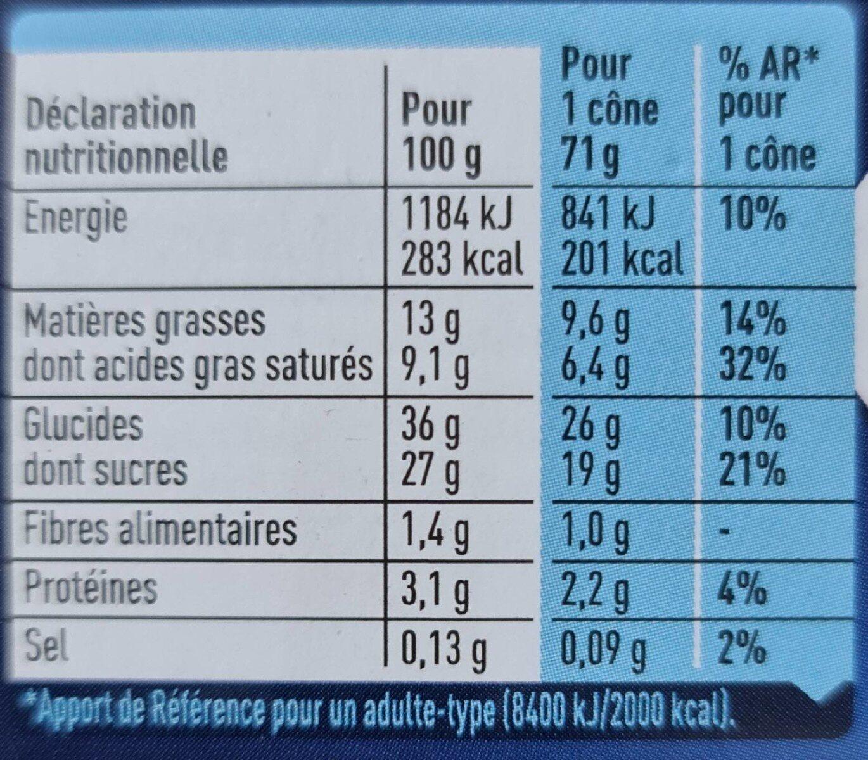 Extreme Chocolat Pistache - Valori nutrizionali - fr
