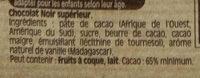 NESTLE DESSERT Chocolat Noir Corsé - Ingrédients - fr