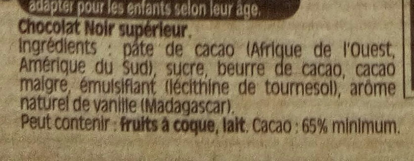 NESTLE DESSERT Chocolat Noir Corsé - Ingredienti - fr