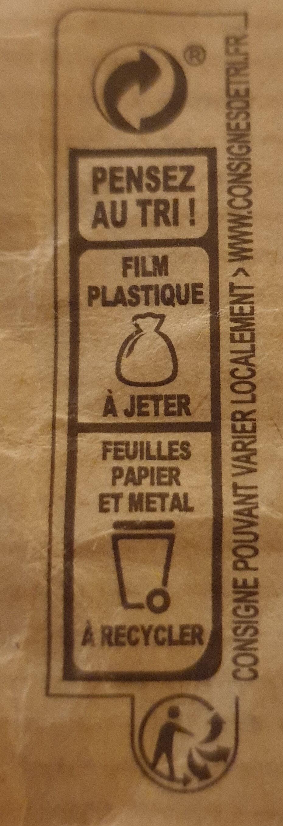 NESTLE DESSERT Chocolat Noir Corsé - Instruction de recyclage et/ou informations d'emballage - fr