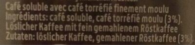 Café soluble avec café torréfié finement moulu - Ingredienti - de