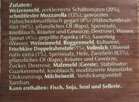 Wagner Hähnchen Mit Spinat / Frischkäse crème - Inhaltsstoffe