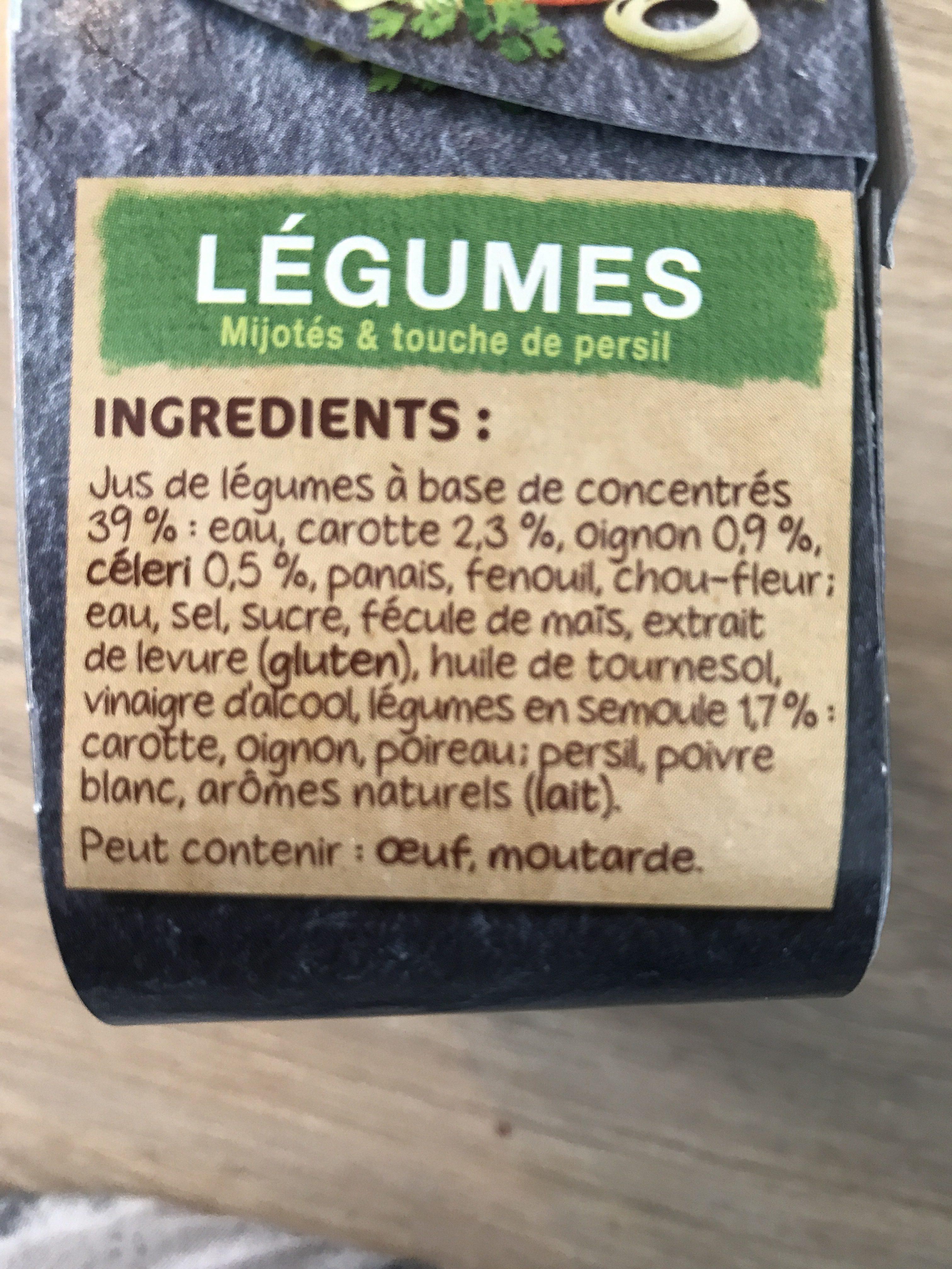 Coeur de Bouillon légumes - Ingredients