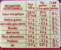 Coeur de Bouillon légumes - Nutrition facts