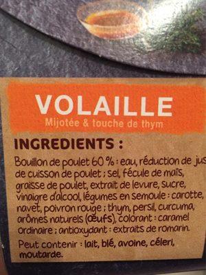 Coeur de bouillon - Volaille - Ingrédients - fr