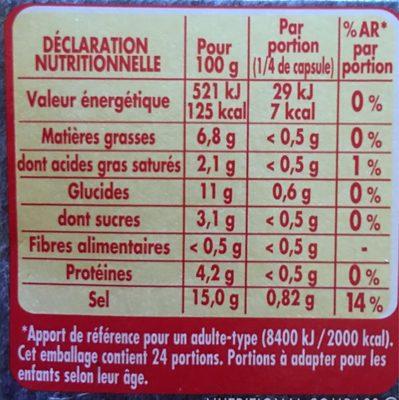 Coeur de bouillon - Volaille - Informations nutritionnelles - fr