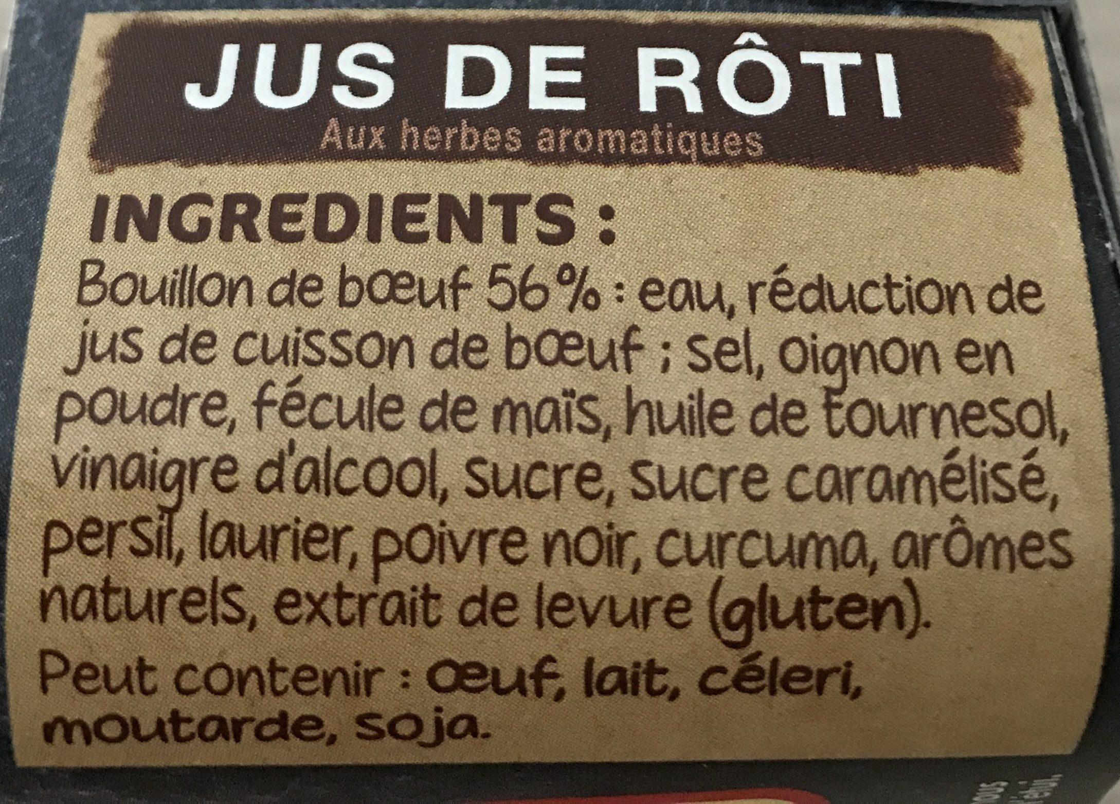 Cœur de Bouillon Bouillon jus de rôti - Ingrédients