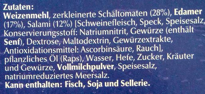Steinofen Salami - Ingrediënten