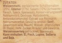 Steinofen Salami - Zutaten - de