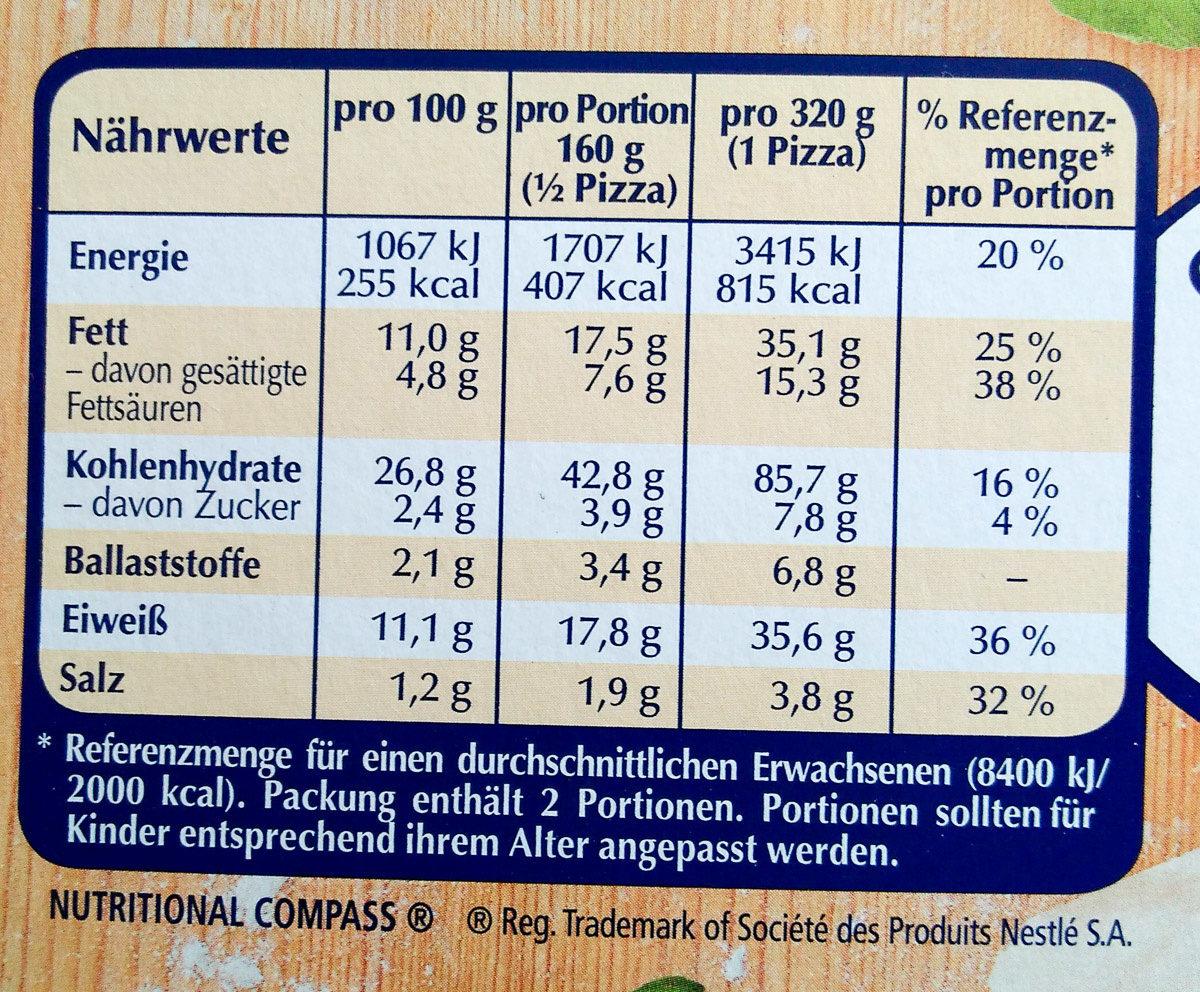 Steinofen Salami - Voedigswaarden
