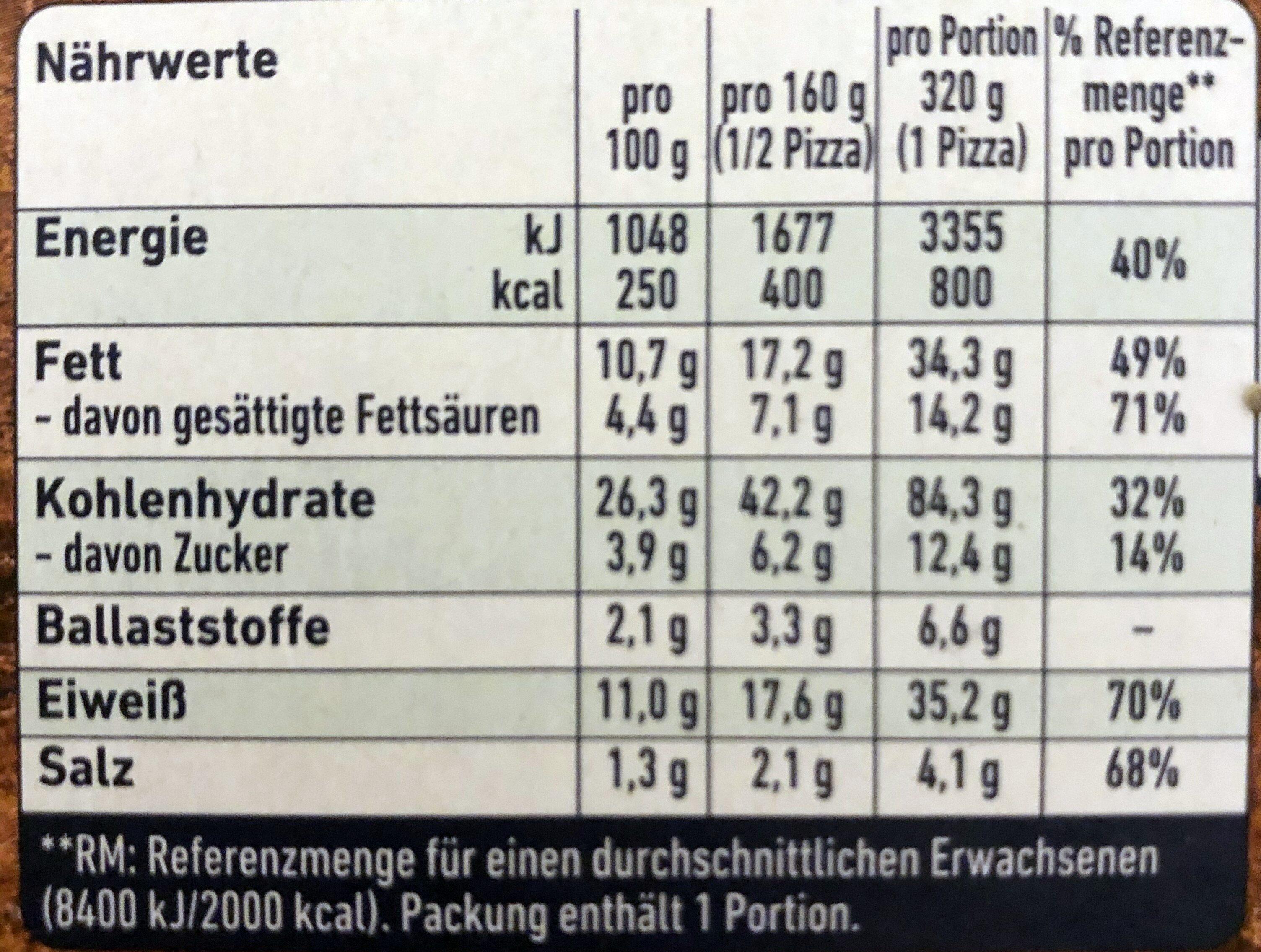 Steinofen Salami - Voedingswaarden - de
