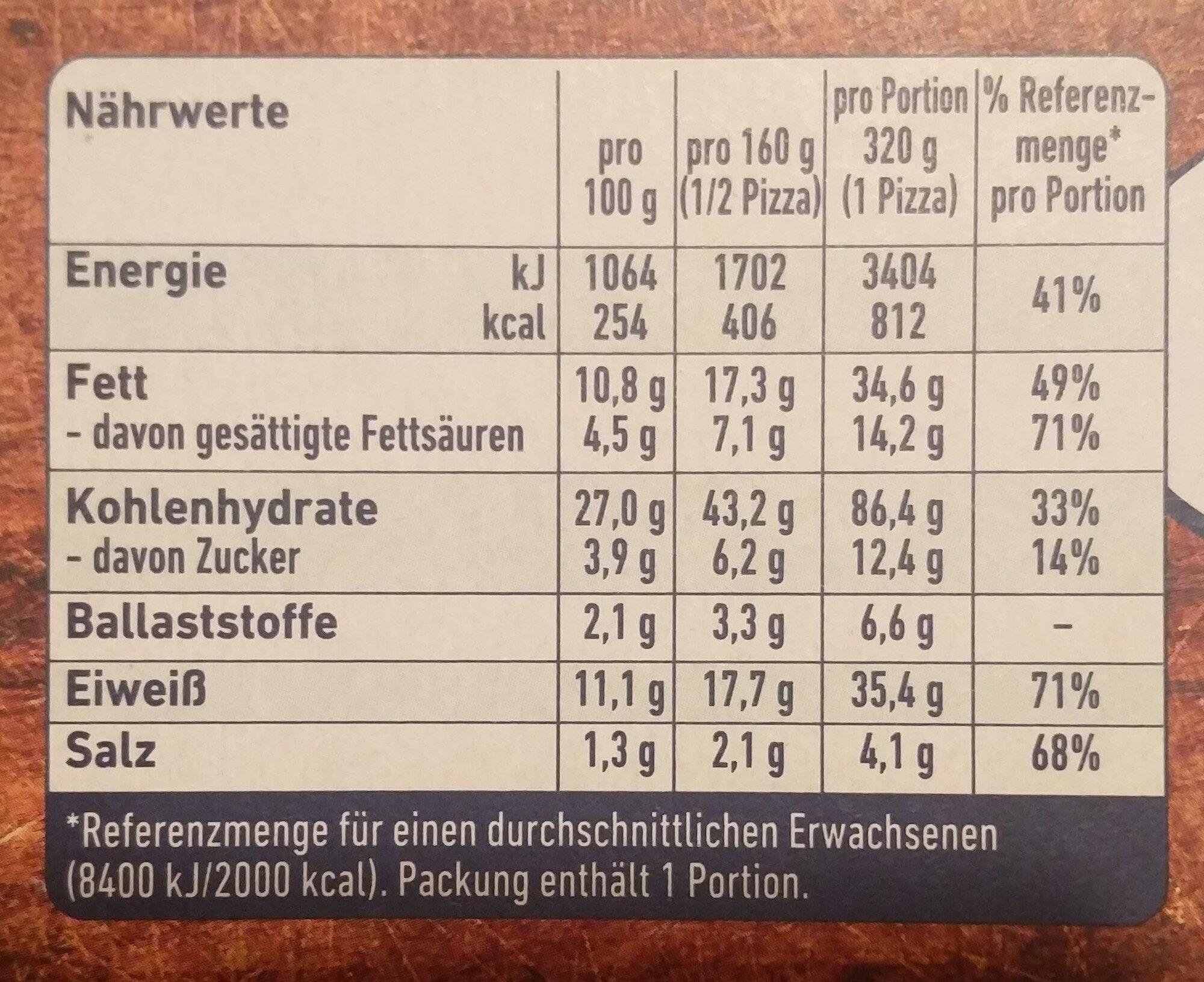 Steinofen Salami - Nährwertangaben - de