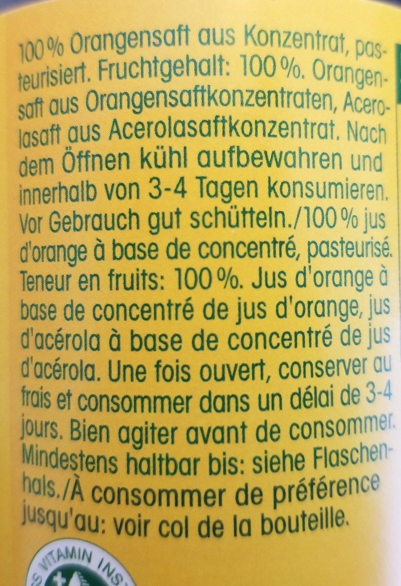 Hohes C - Ingredients