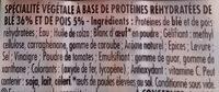 Knacki Végétale - Ingredients - fr