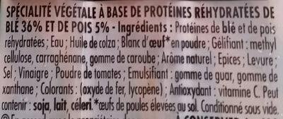 Knacki Végétale - Ingrédients