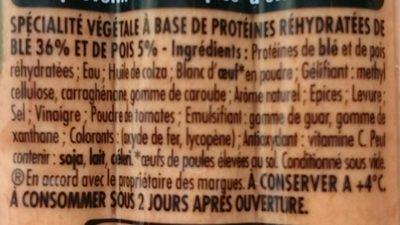 Knacki végétale blé et pois - Ingrédients - fr