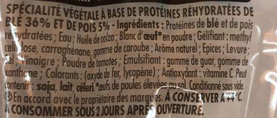 Knacki végétale blé et pois - Ingrediënten - fr