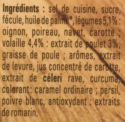 Bouillon Kub Poule au Pot - Ingrediënten - fr