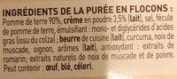 Purée Saveur à l'Ancienne, Crème & Noix de Muscade - Ingrediënten - fr
