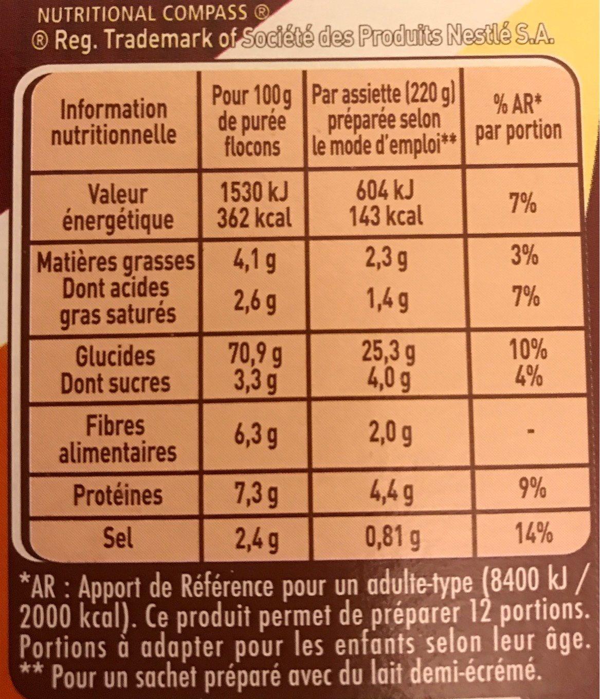 Purée Saveur à l'Ancienne, Crème & Noix de Muscade - Voedingswaarden - fr