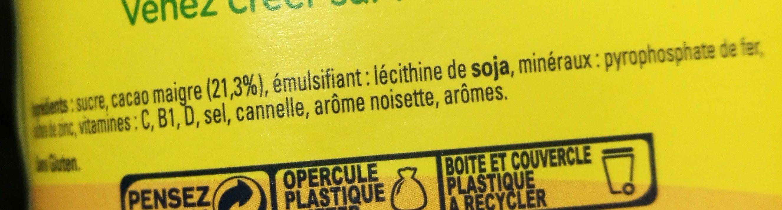 NESQUIK goût Choco Noisette Poudre Cacaotée - Ingrédients - fr