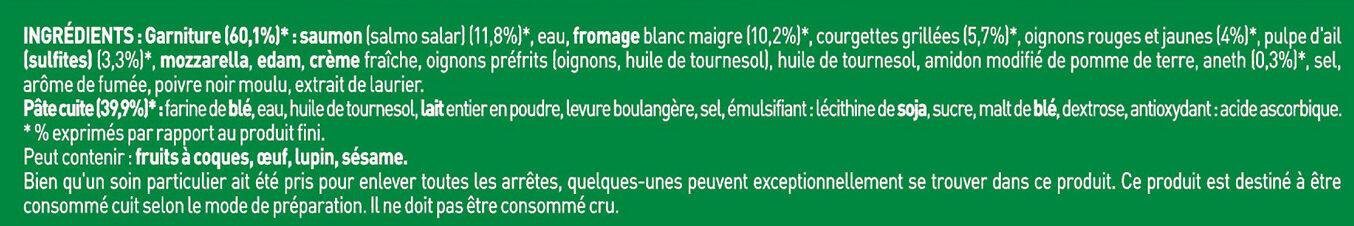 BUITONI FOUR A PIERRE Pizza Saumon - Ingrédients - fr
