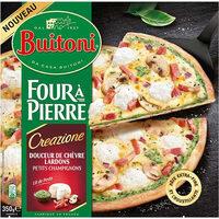 BUITONI FOUR A PIERRE CREAZIONE pizza surgelée Chèvre Lardons - Produit - fr