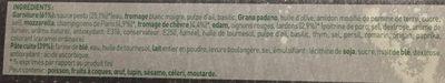 BUITONI FOUR A PIERRE CREAZIONE pizza surgelée Chèvre Lardons - Ingrédients - fr