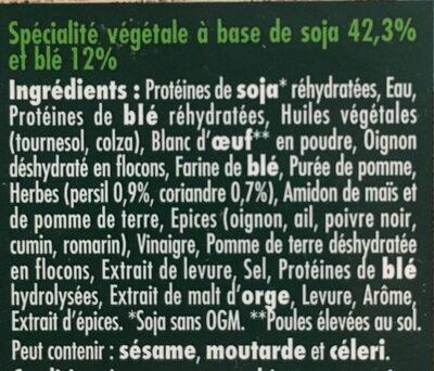 Le bon végétal - Steak gourmand - Ingredienti - fr