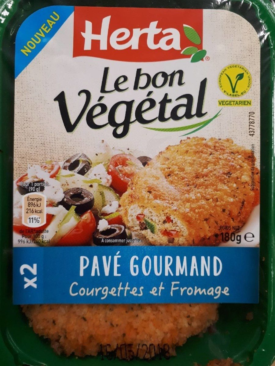 Pavé gourmand courgettes et fromage - Product