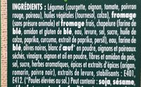 Pavé gourmand courgettes et fromage - Ingredients