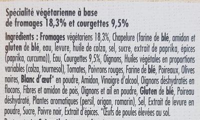 LE BON VEGETAL Pavé courgettes fromage - Ingrédients - fr