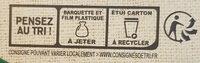 LE BON VEGETAL Pavé courgettes fromage - Instruction de recyclage et/ou information d'emballage - fr