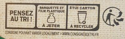 LE BON VEGETAL Pavé courgettes fromage - Istruzioni per il riciclaggio e/o informazioni sull'imballaggio - fr