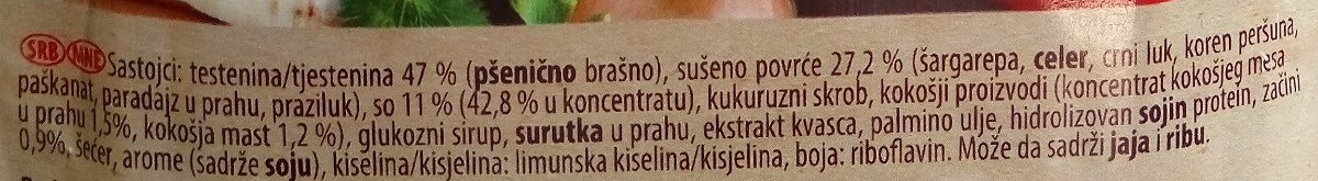 C Kraljevska kokošja supa - Ingredients - sr