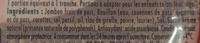 Le Bon PARIS à l'étouffée SANS NITRITE 4 tranches - 57