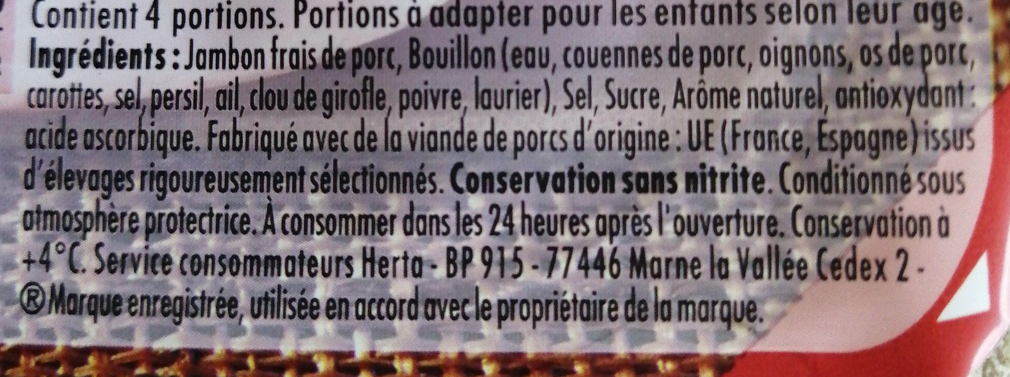 Le Bon Paris à l'étouffée conservation sans nitrite - Ingrédients - fr